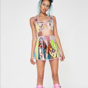 NWT Dream Crusher iridescent skirt